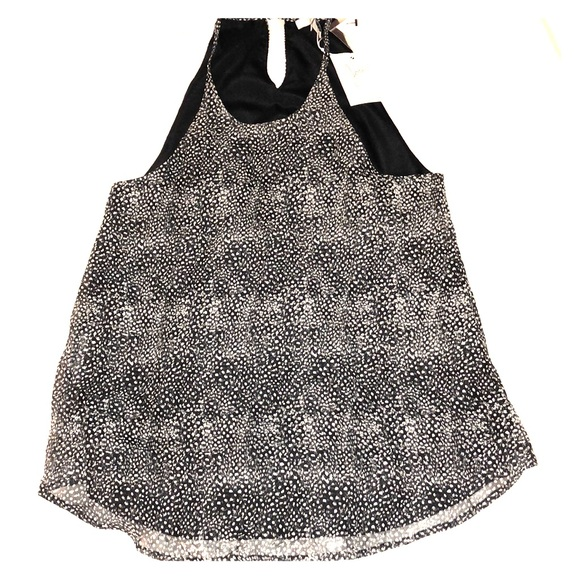 Joie Tops - Joie black and white speckled tank top (NWT)